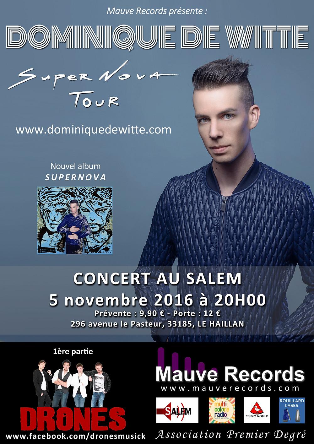 Dominique de Witte - CONCERT au SALEM - Le Haillan 33185 - SUPERNOVA TOUR - 1ere partie DRONES