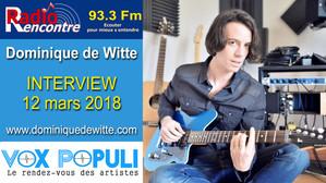 INTERVIEW - RADIO RENCONTRE DUNKERQUE - 12/03/2018