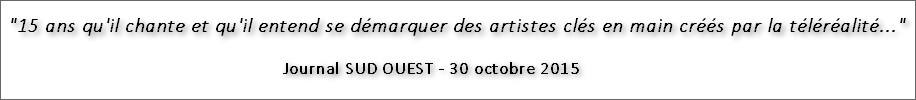 Dominique de Witte - Extrait du journal SUD OUEST - 30 octobre 2015