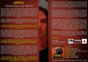 """Mon single """"ANIMAL"""" est disponible pour les radios sur postedecoute.ca"""