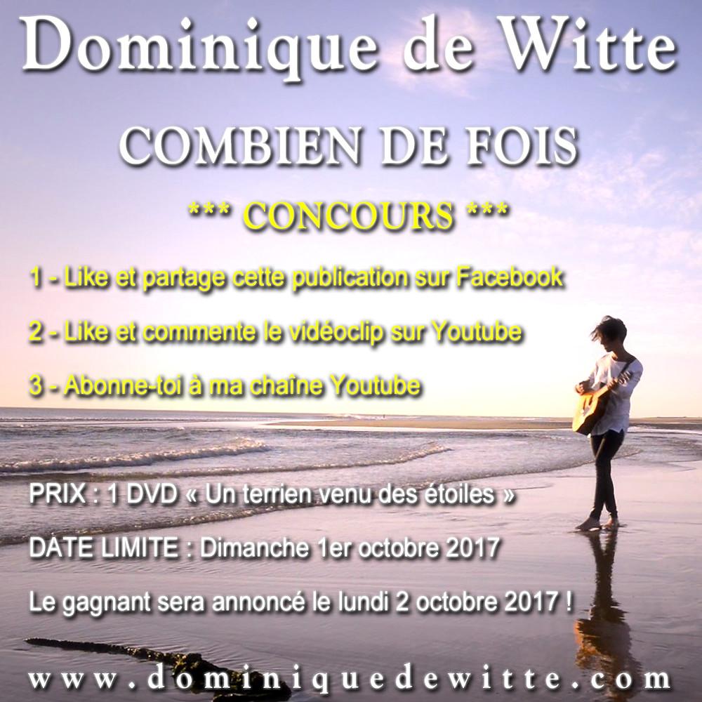 """Dominique de Witte - """"COMBIEN DE FOIS"""" - CONCOURS"""