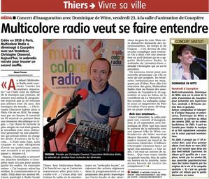 PRESSE - Journal LA MONTAGNE - 19/09/2016