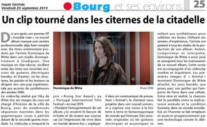 PRESSE - Journal HAUTE GIRONDE - 20/09/2019