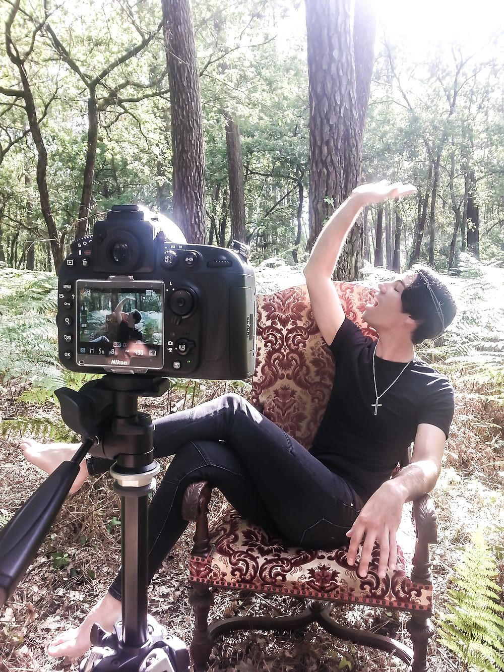 Dominique de Witte - Tournage vidéoclip TON ETOILE - 08.08.2016