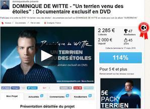 """114% pour le DVD """"Un terrien venu des étoiles"""" !"""