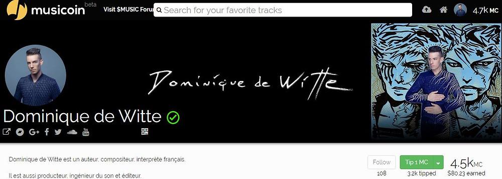 Dominique de Witte - Ambassadeur pour MUSICOIN - Blockchain - $MUSIC