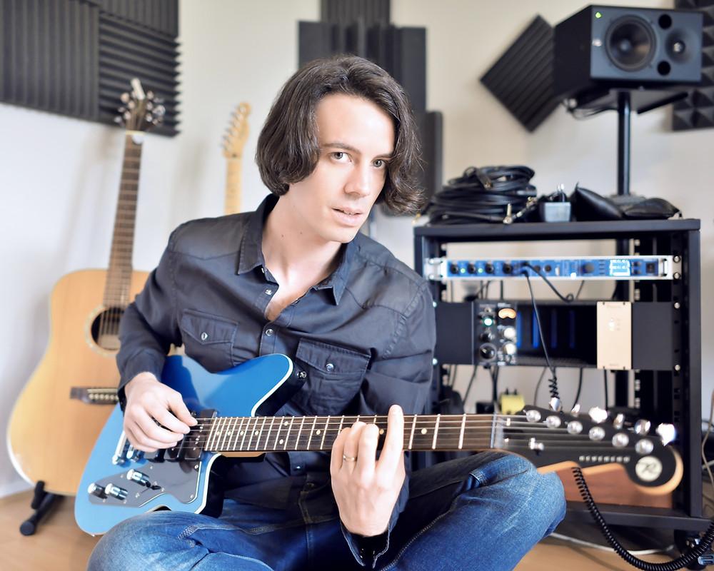 Dominique de Witte - En studio pour son 3e ALBUM - MAUVE RECORDS - STUDIO NOBILIS