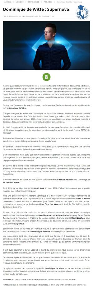 PRESSE - LE SURICATE MAGAZINE (Belgique) - 26/12/2016