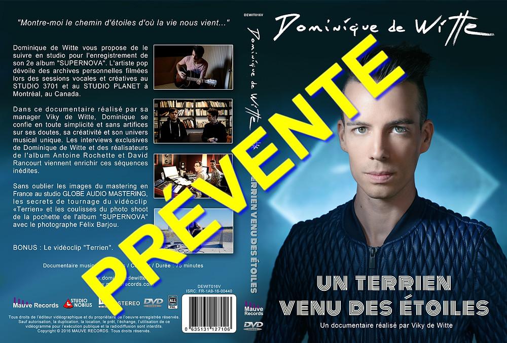 """PREVENTE - SORTIE OFFICIELLE le 23 mai 2016 - Dominique de Witte """"UN TERRIEN VENU DES ETOILES"""" - DVD documentaire"""