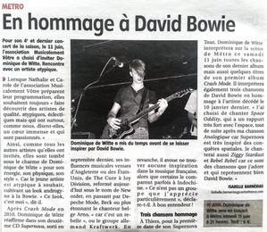 PRESSE - Journal LA GAZETTE - 9 juin 2016
