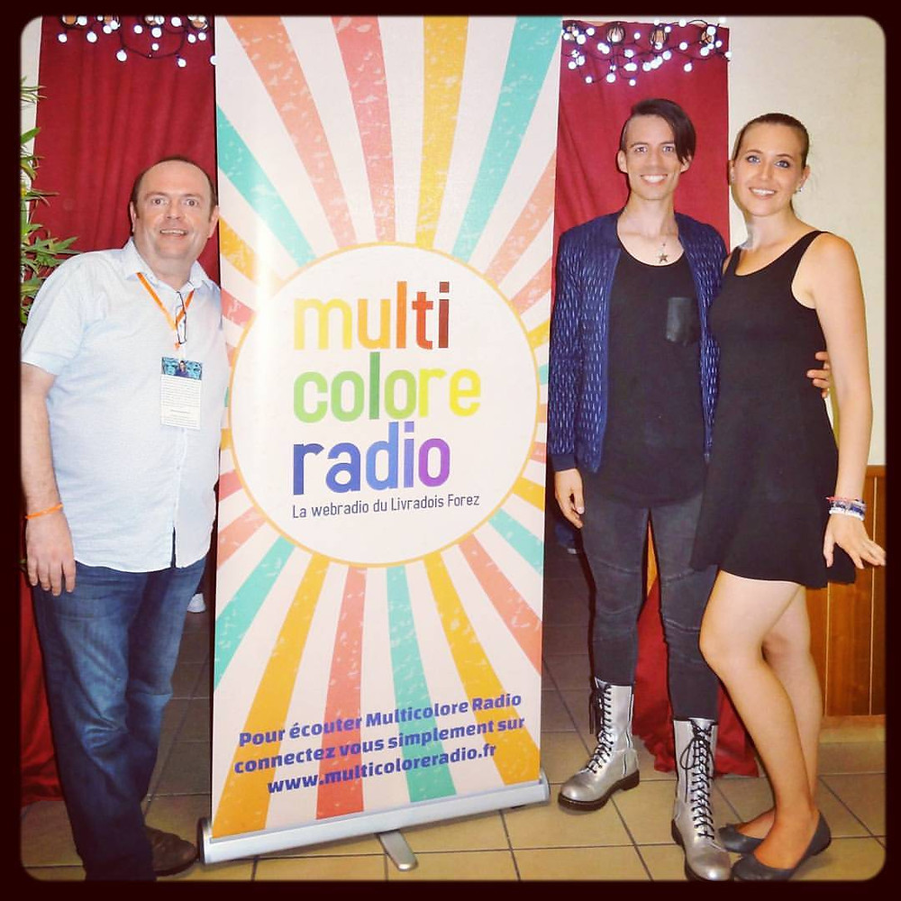 Christophe Chavarot + Dominique de Witte + Viky de Witte - Inauguration de MULTICOLORE RADIO - 23 septembre 2016
