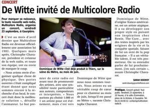 PRESSE - Journal LA GAZETTE - 22 septembre 2016