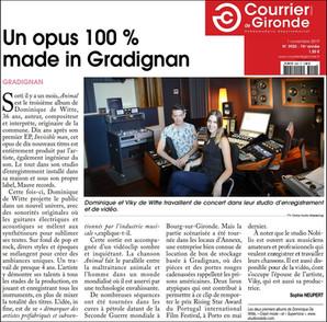 PRESSE - Journal COURRIER DE GIRONDE - 01/11/2019