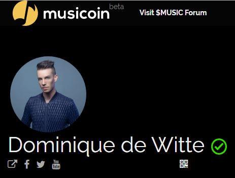 Dominique de Witte - Artiste MUSICOIN certifié