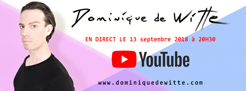 En direct avec Dominique de Witte - YOUTUBE - VIDEO LIVE - YOUTUBER - 3e ALBUM prévu pour 2019 - MAUVE RECORDS