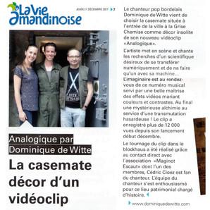 PRESSE - LA VIE AMANDINOISE - 21/12/2017