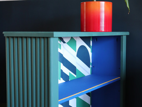FLUTED BOOKCASE UPCYCLE