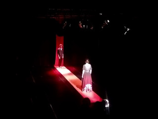 """First presentation with audience of Bia Goncalves: """"A FEDRA"""". Direction, scenograpy and li"""