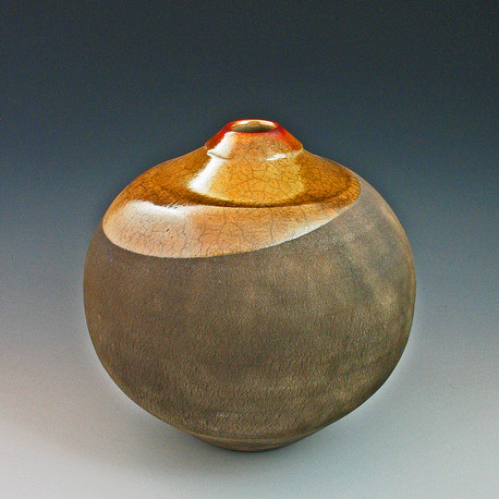 gold top globe raku vase.jpg