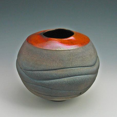 red gold wavey raku vase.jpg