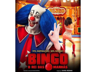 "The OFFICIAL poster for 'BINGO. O REI DAS MANHAS"" is in public nowP"