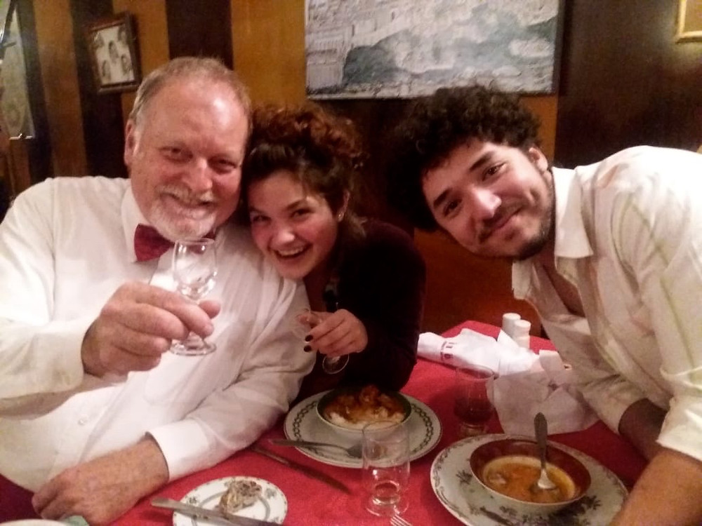 With wonderful co/actors Isabella Rossi and Joao Vitor.