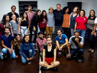 A wonderful intensive evening with actors at The Latin Americna Film Institute in Sao Paulo.  Classe