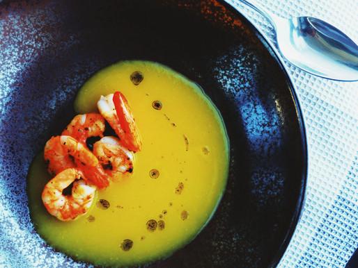Moliūgų sriuba su imbieru ir vanilės aliejumi
