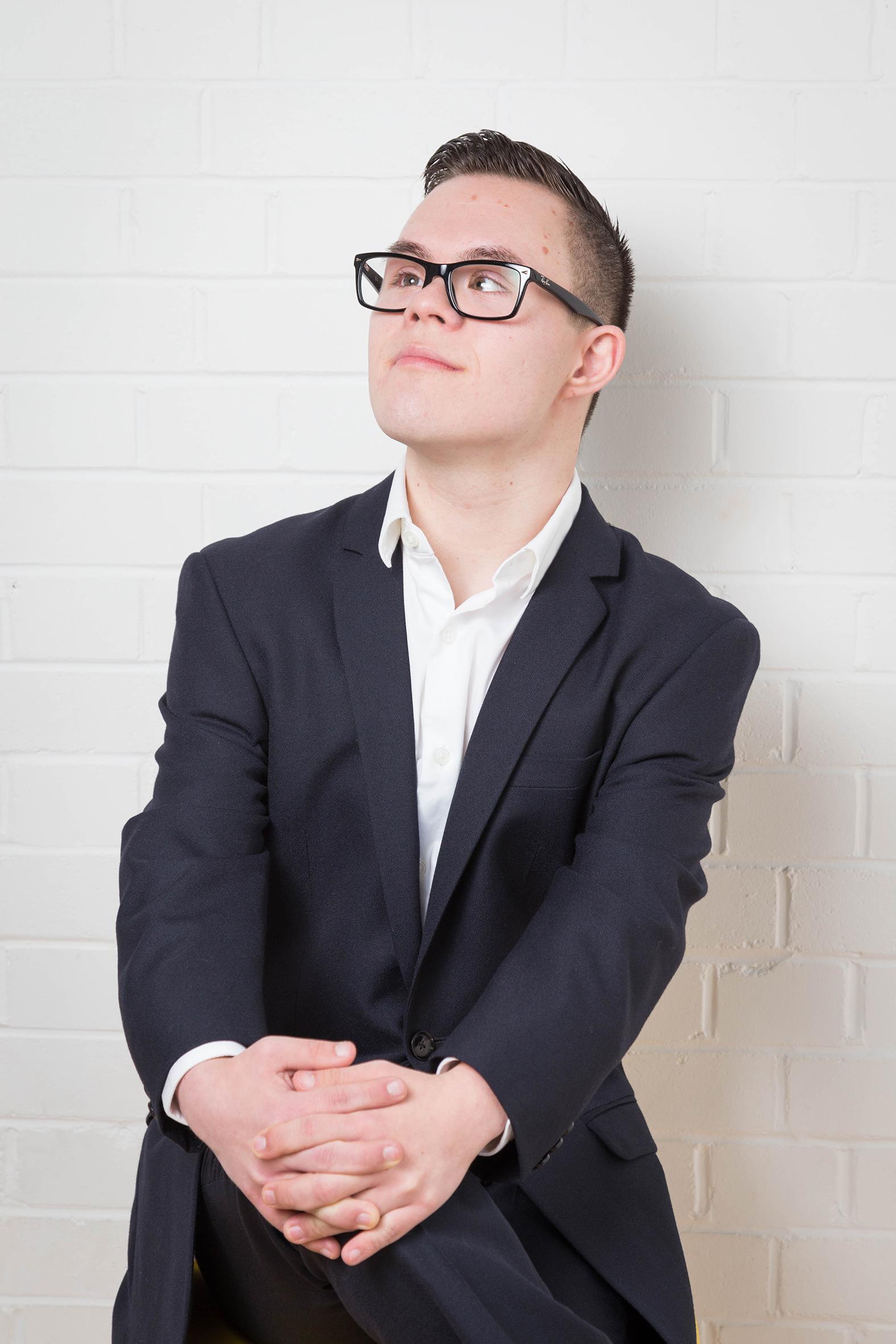 Sam, Down Syndrome model, Zebedee Management, disabled, model agency, disability, man 06