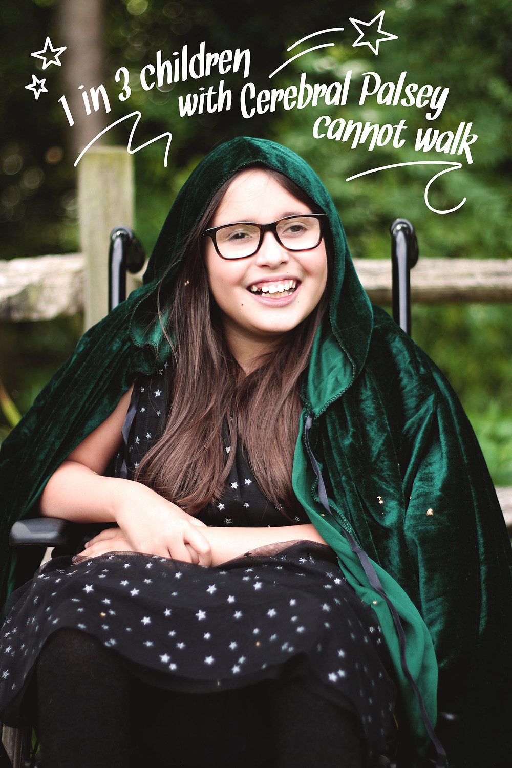 Disabled model photod for world cerebrl palsy awareness day campaign. disability awareness. Zebedee Management differently disabled model agency.