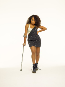 Caprice-Kwai, Ostearthritis, Zebedee Management, disabled, model agency, disability, Woman