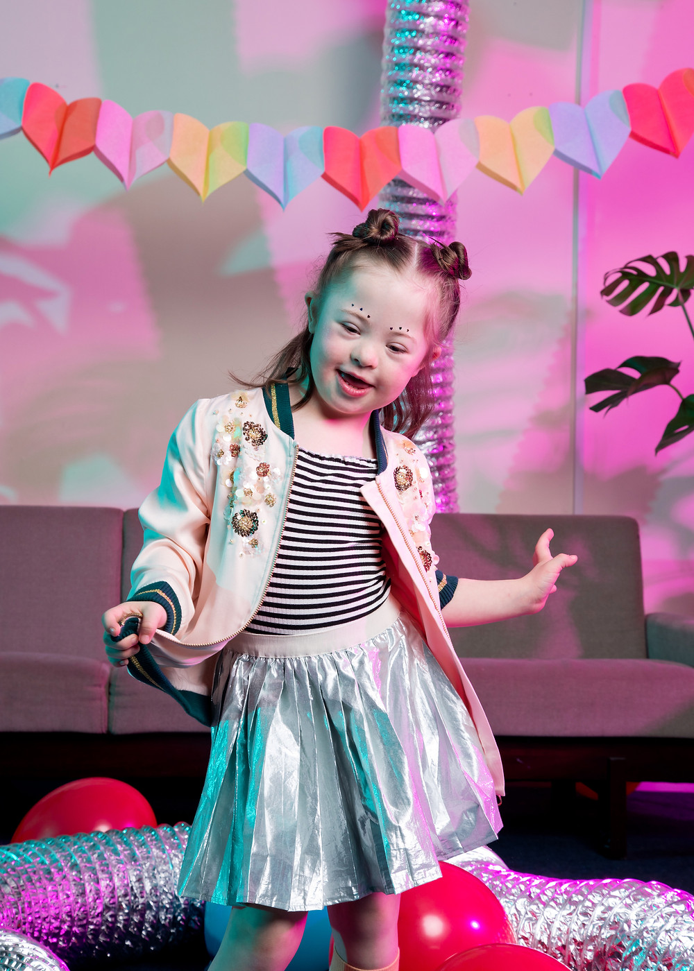 Child model with Down syndrome, influencer instagram