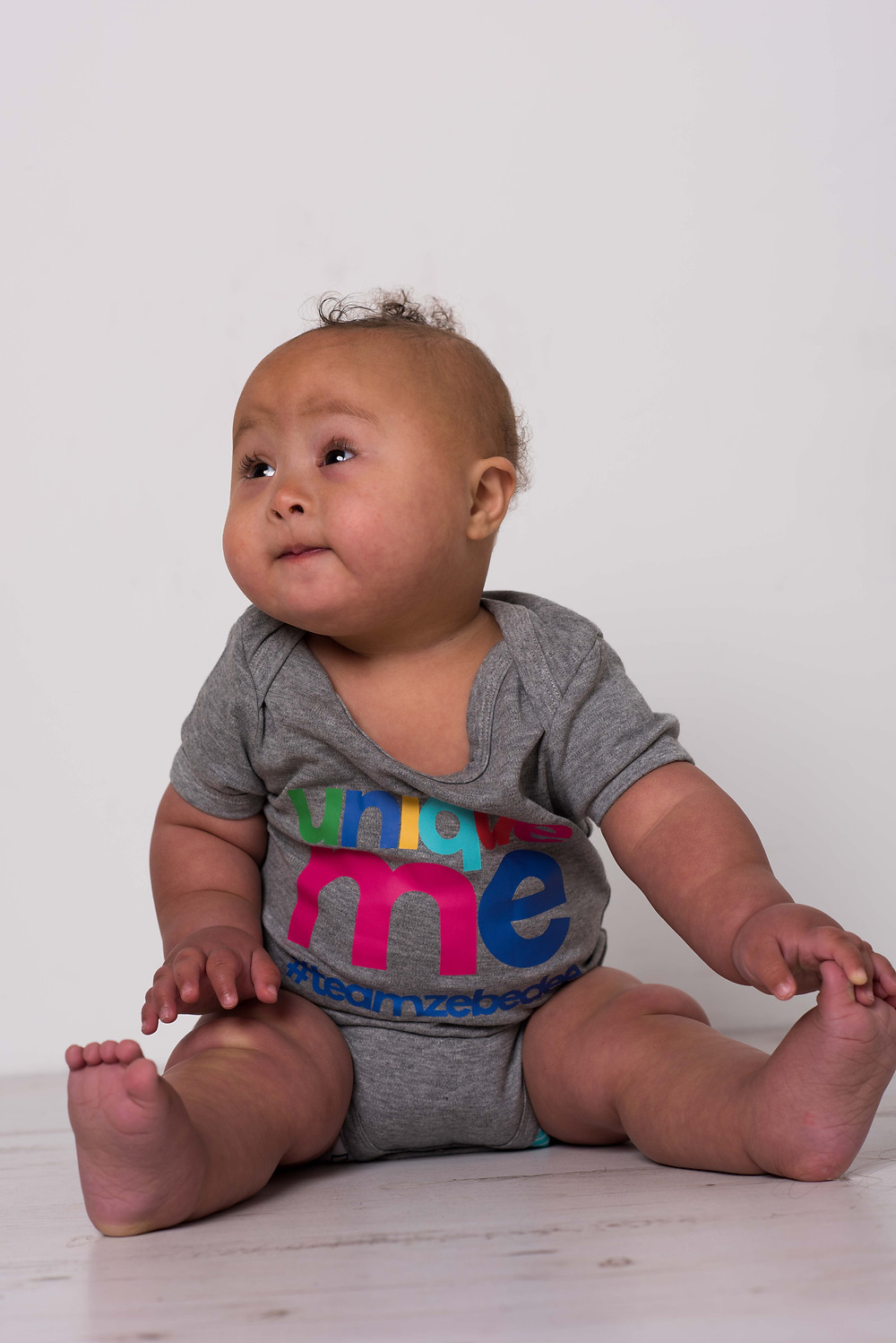 Disabled baby model Zephy, who has Down Syndrome