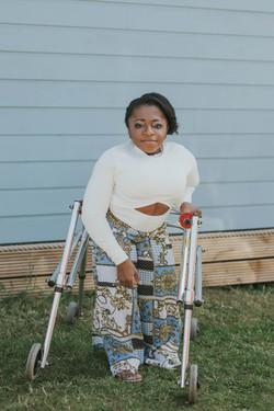 Monique, Brittle Bone Disease, Zebedee Management, disabled, model agency, disability, Woman (2)