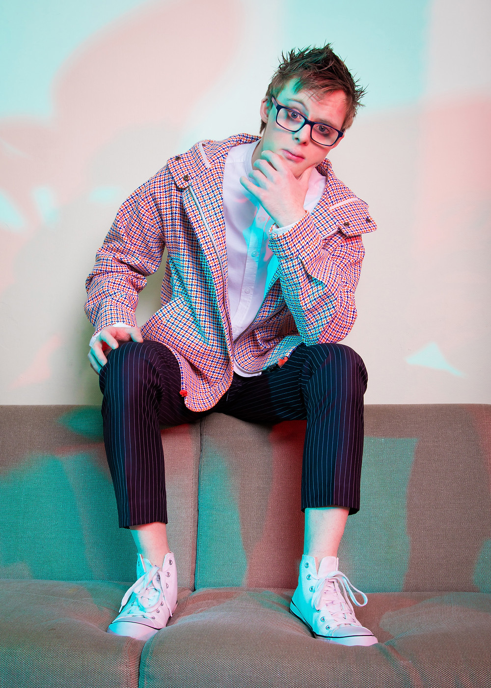 Male model who has Down Syndrome Mens fashion photoshoot