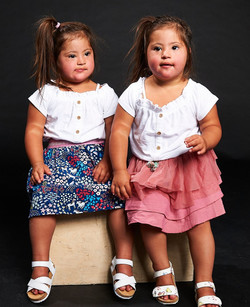 Hannah and Rachel, Down Syndrome, Zebedee Management, disabled, model agency, disability,