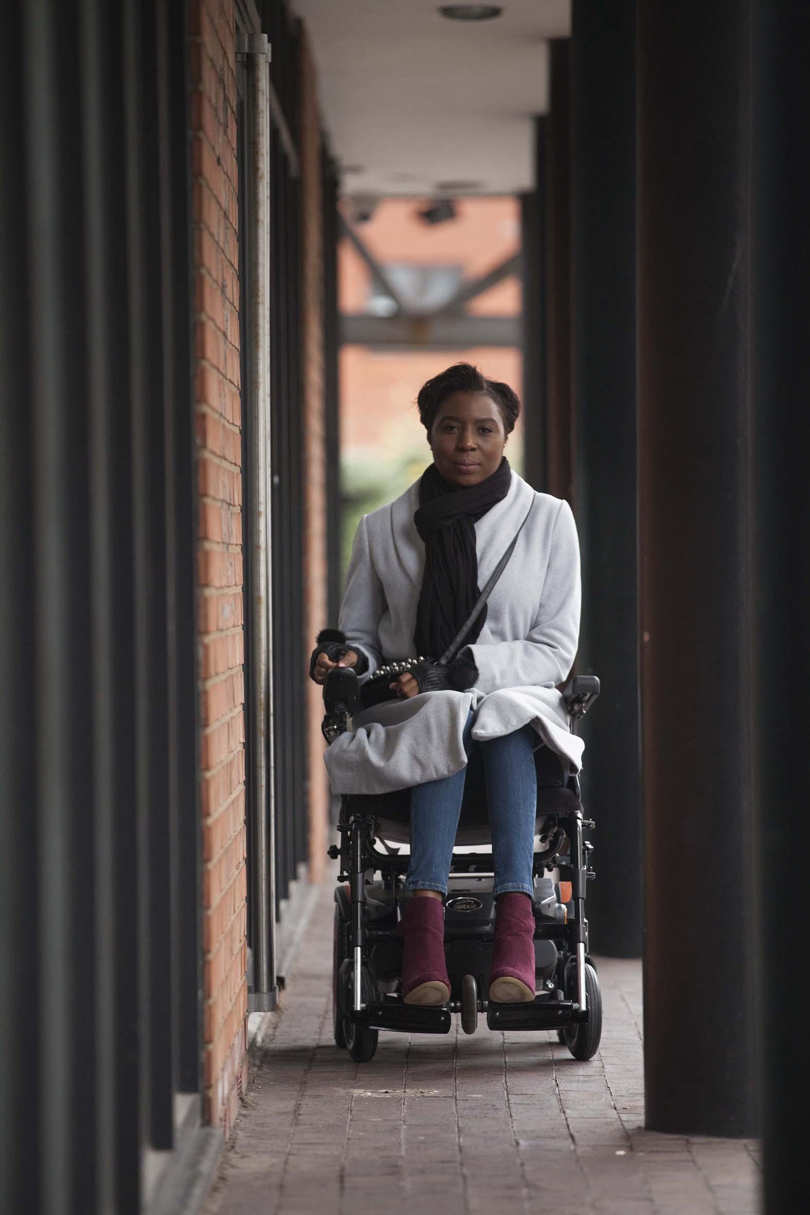 Clara, Wheelchair User, Zebedee Management, disabled, model agency, disability, Woman (1)