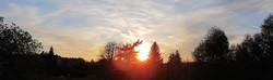 Coucher de soleil depuis la terrasse du Shala