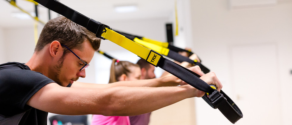 TRX edzés közben