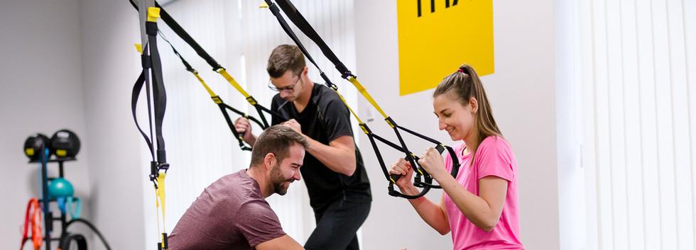 TRX edzés közben - helyes testartás