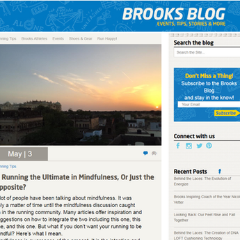 Blog for Brooks Running