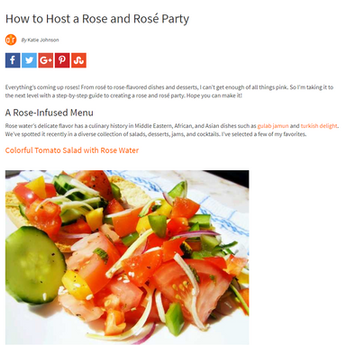 """How to Host a Rose and Rosé Party"" article for Allrecipes"