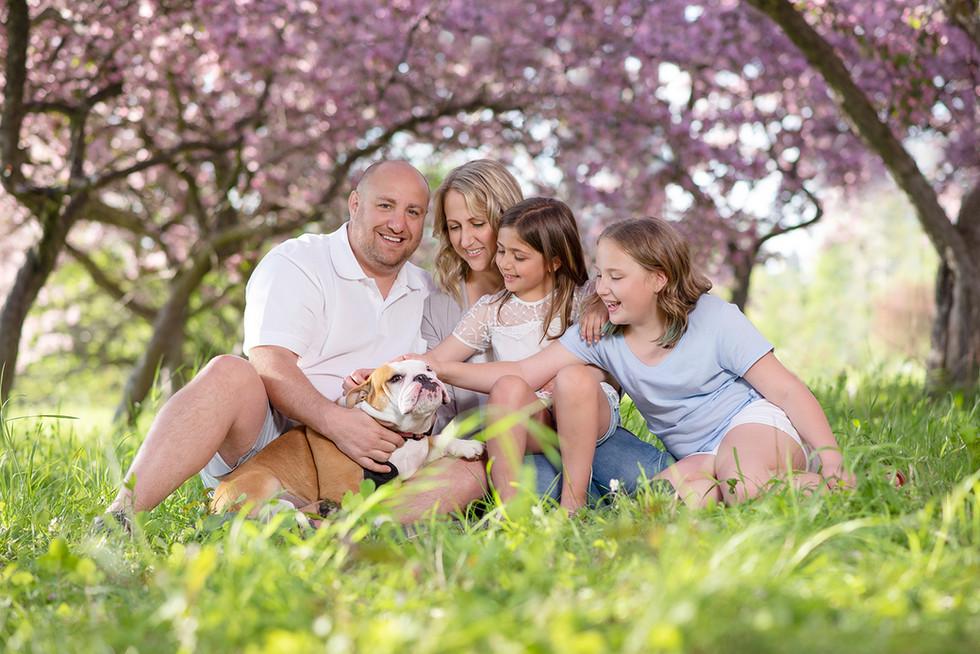 Family Cherry Blossom Portrait