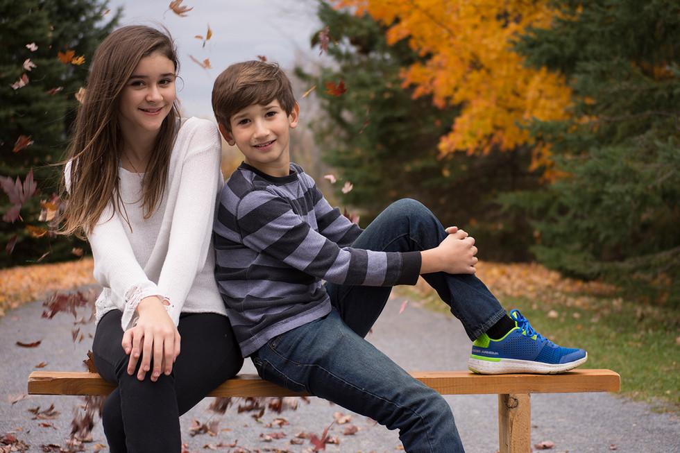 Siblings Fall Portrait