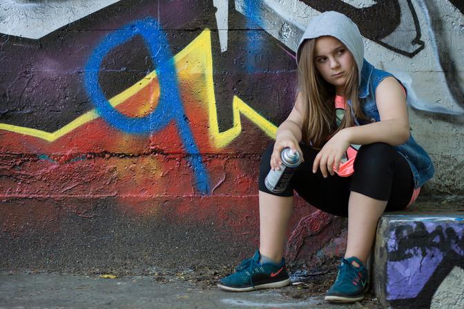 Graffiti Portrait at Ottawa Tech Wall