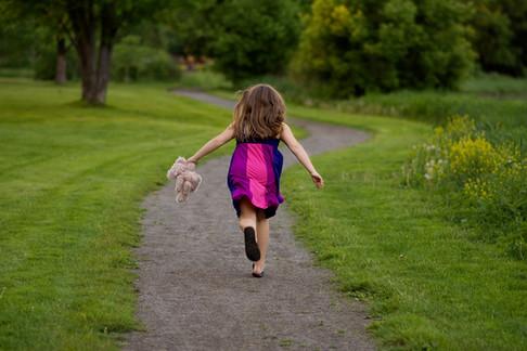 Running Girl Portrait