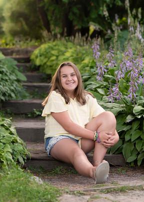 Sitting on steps at the Ottawa Arboretum