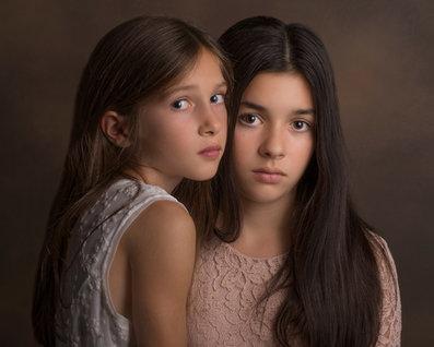 Sisters Vintage Portrait