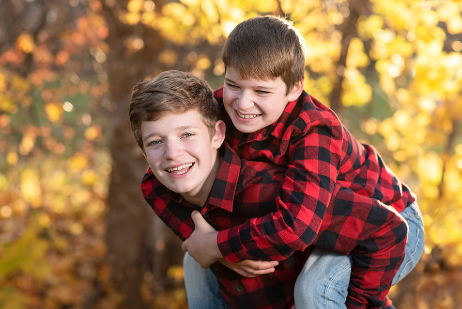 Brothers Fall Portrait
