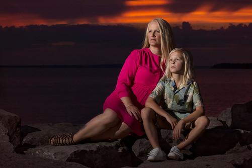 Britannia Beach Sunset Portrait